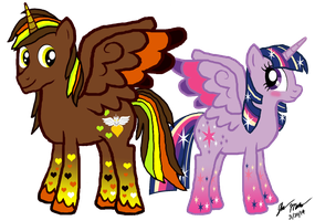 Rainbowfied Twilight and Courageous Heart by Crisostomo-Ibarra