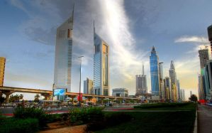 Sheik Zayed Road by rocklee55