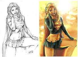 Ed Benes supergirl colored 02 by Stealth-comics