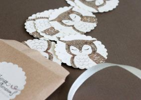 Whimsical Owl Stickers by yeevon