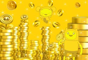 Pucca's Coin Heaven by rabbidlover01