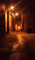 Cool alleyway was also a short cut by capturedpoetry