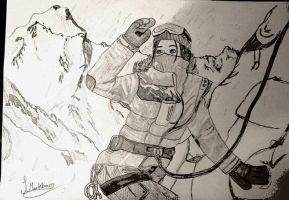 Rise of the Tomb Raider: Climb to the top sketch by jjsinner
