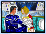 Super VL et Power Girl - couleur by VMJML1er