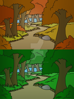Forest Design - Normal/Fall by Mammal33