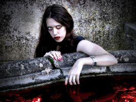 Vampire Joana - Pool of Blood by Darkest-B4-Dawn