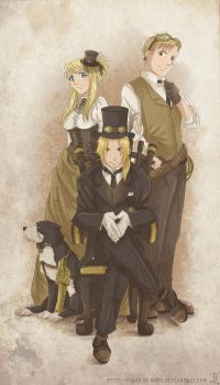 Fullmetal Steampunk by peace-of-hope