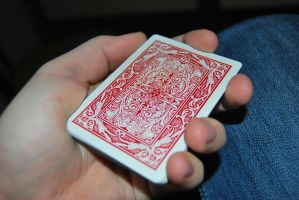 Maverick Red - Playing Cards by cal3star