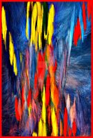 The Falling-paint Abstract by YOKOKY