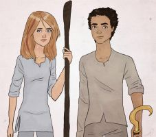 Sadie and Carter by thenameisbichie