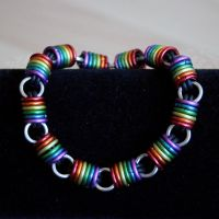 Rainbow Stretch Bracelet by Ichi-Black