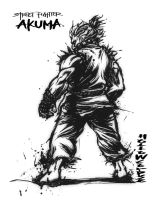 Akuma-Linework by hollowcorpse