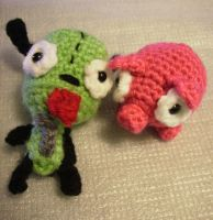 Gir and Piggy Amigurumi by KitWolfren