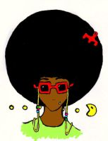 afro by linnzilla