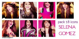 + pack 18 icons selena gomez by withmusicinmyheart