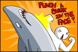 PUNCH A SHARK IN THE FACE by NikiStix