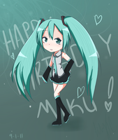 happy birthday miku by LilyTC