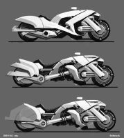 futuristic moto concepts 2 by Sickbrush