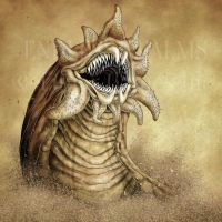 Endless Realms bestiary - Sandworm by jocarra