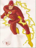 The Flash - Tinta Oleo by Meneguitte