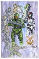 Halo-Spartans Color by artrobot9000