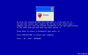 Blue Screen Of Death Loves You by BabyClassicSonic