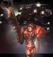 Starcraft marine girl by inshoo1