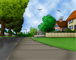 Evergreen Terrace Background 1 by Fragsey