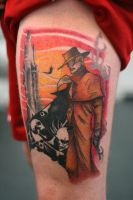 Gunslinger WIP Session 2 by Lucky-Cat-Tattoo