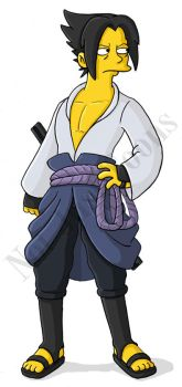 Sasuke Simpson by Morpheus306
