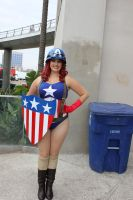 Lady Captain America by cablex452