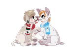 Checkers and Boots: winter pixel [base by gutsies] by Arkay9