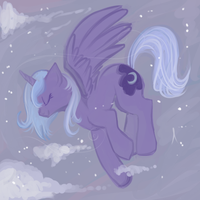 Snowy Night by lulubellct