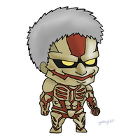 Shingeki No Chibi Colossal Titan by ypknight16 by yellowpandabl