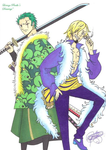 15th Anniversary of One Piece (Zoro and Sanji). by LoLoOw