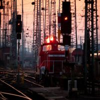 Sundown at the rail yard... by Milanogreg