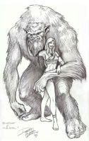 Bigfoot and Wild Girl by ArtNomad