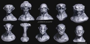 220313 Ten Minute Character Sculpts by TLishman