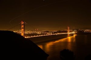 Golden Gate at Night by R-M-Williams