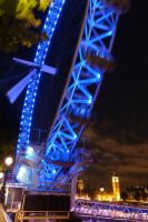 London Eye at night by PhilsPictures