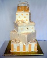 Gift Box Wedding Cake by pinkcakebox