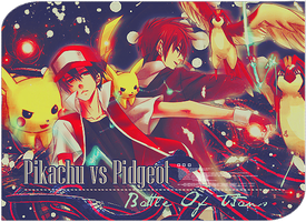 Pikachu vs Pidgeot by MisakiAmour