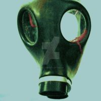 Gas mask by gorillazure