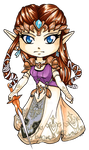 Chibi Twilight Princess Zelda by Ranefea