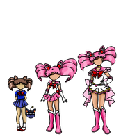 Chibi Moon evolutions 1: my colored version by XNekoXMika