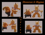 Drowzee and Hypno PaperPokemon by Adisko