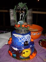 A wedding cake to die for by RozzRIP1334