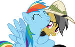 [Vector] Rainbow Dash and Daring Do by DerAtrox