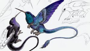 Flytgryphs concept paintings by azraelkarasu