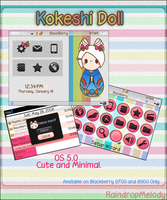 Kokeshi Theme- Blackberry 9700 by RaindropMelody